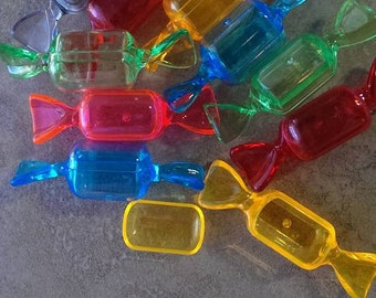 5 assorted Plastic Candy shaped containers