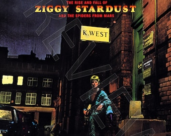Tshirt - David Bowie: The Rise and Fall of Ziggy Stardust and the Spiders from Mars (1972)