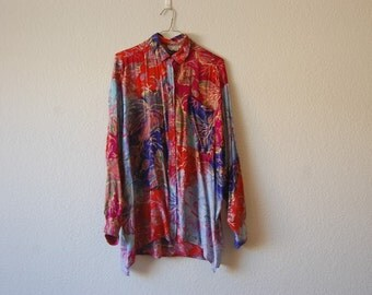 Wacky and Wonderful Oversized Button-Up Long Sleeve