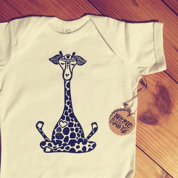 Baby Gifts For Hippie Parents : Hippie baby onesie lotus giraffe bodysuits by