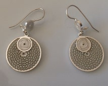 20% Discount off Promo Code VALENTINE16 limited time only. Earrings silver - fine filigree silver 950 - handmade earrings.