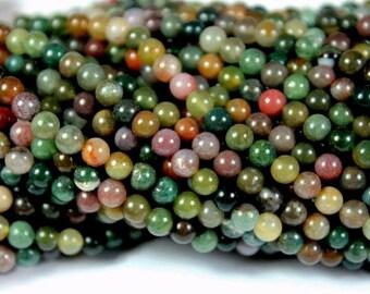 4mm Fancy Jasper Gemstone Beads - 15.5inch Full strand - Round Gemstone Beads