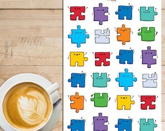 Kawaii Jigsaw Puzzle Planner Stickers (S-054)