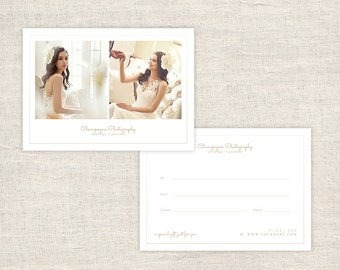 Minimal Photography Gift Certificate Template - Photographer Gift Card Template - Wedding Photo Gift Card Templates - INSTANT DOWNLOAD