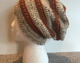 Women's Crochet Slouchy Hat, Crochet Slouchy, Women's Hat, Crochet Slouchy Beanie, Women's Beanie, Neutral Crochet Slouchy Hat