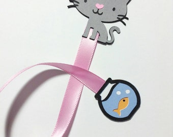 Cat Ribbon Bookmark