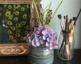 Small Blue Green Vase
