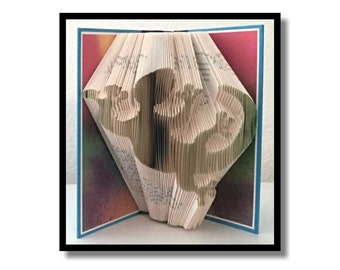 Folded Book Art: Gecko