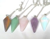 Reiki Gemstone Pendulum Necklace