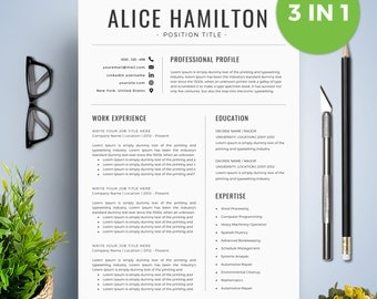 resume template with photo cv template cover letter instant download teacher resume - Free Teacher Resume Templates