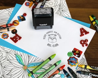 Correct and Return Stamp, Teacher stamps, Self Inking Stamp, Gifts for teachers, Teacher Appreciation Gifts, Teacher  --SI-400RC-MRSCLARK