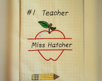 Teachers towel, great teachers gift personalized with your teachers name or monogram!