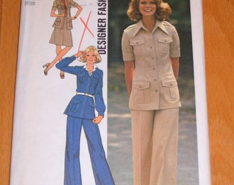 Vintage 1974 Simplicity Pattern 6794 Shelley Hack on Cover, Charlie's Angels - Size 12; Bust 34