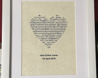 New baby/new parents/Christening Personalised gift