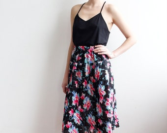 CLEARANCE Vintage Floral Chiffon Skirt Onesize