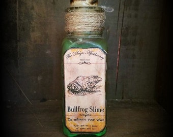 "Vintage Witches potion ""Bullfrog slime"" Halloween decor"
