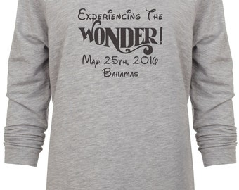 Disney Cruise Inspired Experience The Wonder Bahamas Glitter Vacation sweatshirt