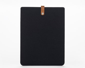 MacBook Air 11 Sleeve - MacBook Air 11 Case - MacBook Air Leather Case - BlackFelt Case