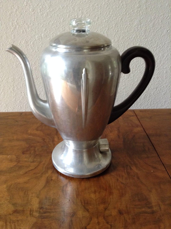Mirro Percolator Coffee Maker : Vintage Aluminum Coffee Pot, Mirro Matic Percolator, Art Deco, 8 Cup Kitchen Housewares ...