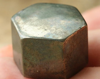 Wow !! Metallic Golden Octahedron Pyrite
