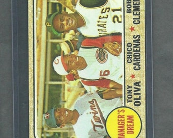 1968 TOPPS - Managers Dream Oliva,Cardenas, Clemente - Reprint