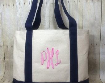 Canvas Tote Bag - Beach Bag - Grocery Bag - School Bag - Teacher Bag - Boat Bag