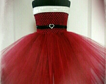 Sweet Santa Tutu Dress. Beautiful Christmas Tutu, Party Dress Handmade Especially For You.