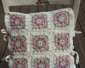 Decorative upholstery of Granny squares