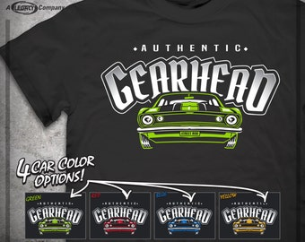 Authentic Gearhead Tee, Great Gift For Him!