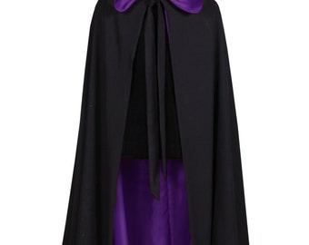 Halloween 2016 - Black / Purple Hooded Cloak