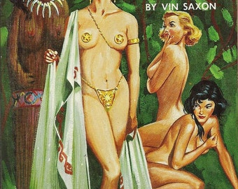 Lesbian pulp vintage art print—Pagan Lesbians