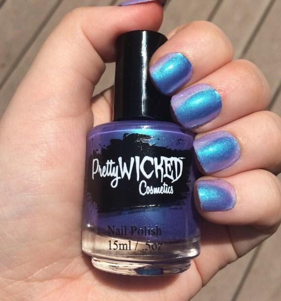 Pink Purple Nail Polish: Blue/Purple Thermal Nail Polish, Daphne Polish, Color