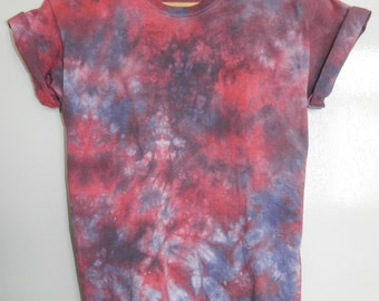 Tie Dye T-Shirt acid wash T-shirt hipster 90s festival Indie Retro 80s hippy dip dye men women unisex summer Marble tie dye t shirt top