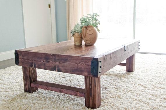 rustic farmhouse bench coffee table. https www etsy com listing