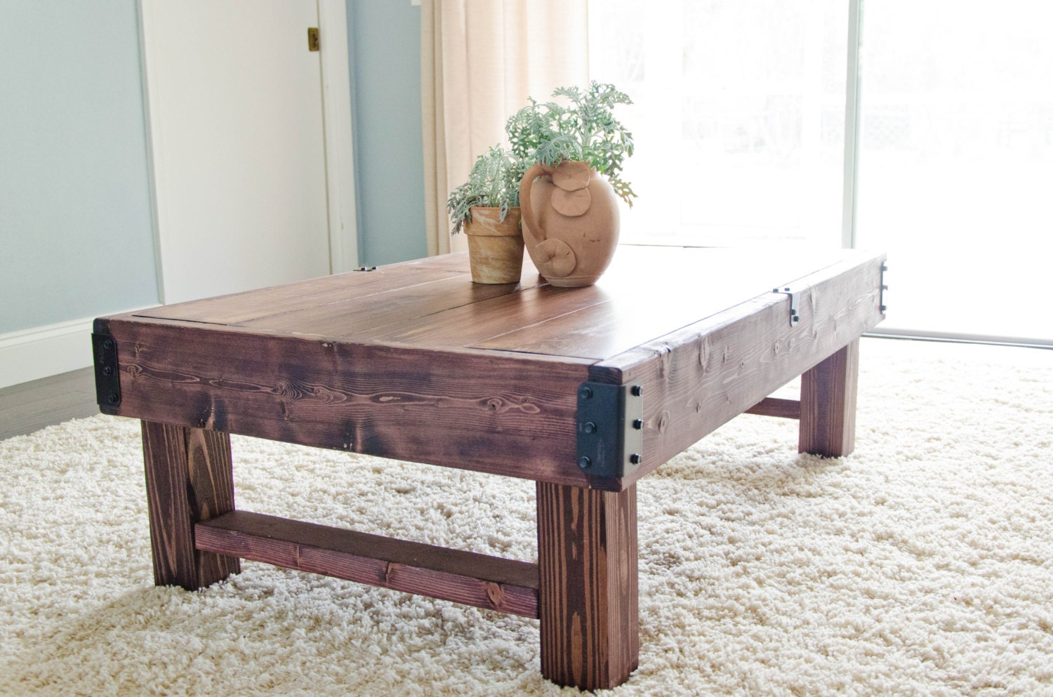 Rustic Coffee Table Farmhouse Coffee Table Rustic Industrial
