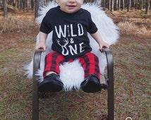Wild & One Tee   First Birthday Shirt, Baby Boy Birthday Tee, Graphic Tee, Wild One Shirt, First Birthday, Baby Boy Shirt, Birthday Shirt