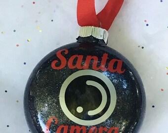Santa Camera ornament // Santa Cam // Santa Camera // Santa Ornament