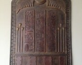 Egyptian Shield,Replica Ancient Shield,Cosplay Shield,Larp Armor,Antique Military Armor,Museum Quality Art,Home Decor,Wall Decor,Props