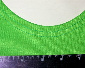 Green Color Woman Top with braided straps - Smal Size - S