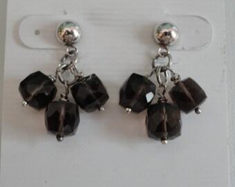 Smokey Quartz Earrings  -  #405