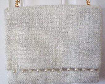 Tweed & Pearl Handbag
