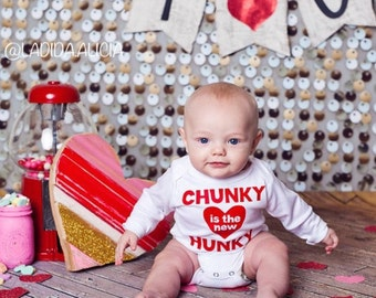 Hunky Valentine Outfit. First Valentine's. Baby Valentine. Heartbreaker. Boy or Girl Baby Valentine outfit. First Valentine 2016