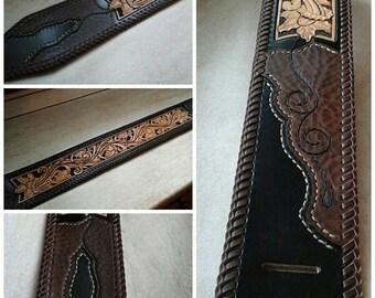 Shoulder strap for guitar or bass