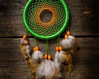 Green dream catcher / orange dreamcatcher/ gift dream catcher/Traumfänger/ Atrapasueños/