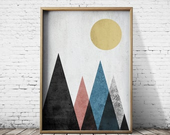 Printable Poster Digital Print Geometric Art Digital Download Geometric Prints  Wall Art Prints Modern Prints Geometric