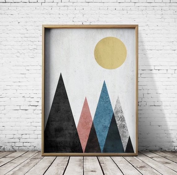 Wall Art Prints Download : Printable poster digital print geometric art download