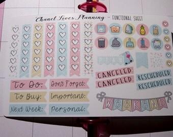 Soft Pastels Functional Sheet