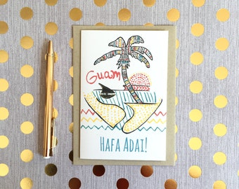 Handmade Guam Cards, Guam Birthday Card, Guam Greeting Cards, Island cards