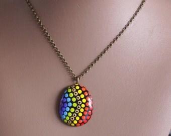 Jewellery Necklace 3 rainbow
