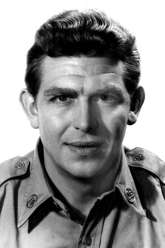Celebrity photos andy griffith print black and by for Black and white celebrity prints